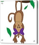 Duffworkscreative_monkeyfunlove_hangin Acrylic Print