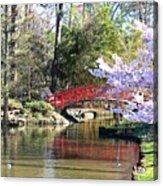 Duke Garden Spring Bridge Acrylic Print