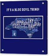 Duke University Blue And White Products Acrylic Print