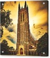 Duke University Chapel At Dusk Acrylic Print