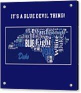 Duke University Fight Song Products Acrylic Print