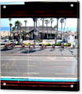 Duke's Huntington Beach Acrylic Print by RJ Aguilar