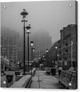 Fog In Boston Acrylic Print