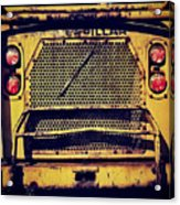 Dump Truck Grille Acrylic Print by Amy Cicconi