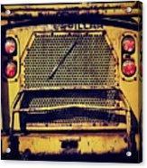 Dump Truck Grille Acrylic Print