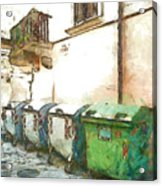 Dumpster Of Garbage Acrylic Print