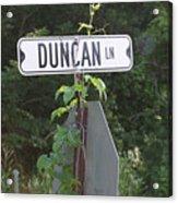 Duncan Ln Acrylic Print
