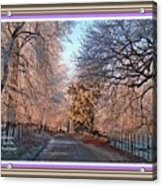 Dundalk Avenue In Winter. L A With Alt. Decorative Printed Frame. Acrylic Print