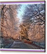 Dundalk Avenue In Winter. L A With Decorative Ornate Printed Frame. Acrylic Print