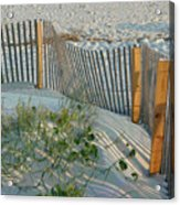 Dune Fence Acrylic Print by Suzanne Gaff