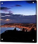 Dunedin By Dusk Acrylic Print