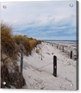 Dunes On A Blustery Day Acrylic Print