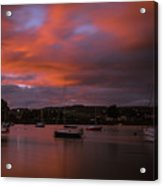 Dungarvan Harbor Sunset 2 Acrylic Print