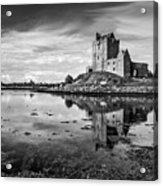 Dunguaire Castle In Black And White Acrylic Print