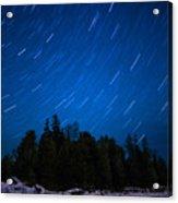 Dunks Point Star Trail Acrylic Print