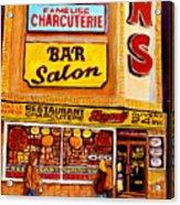 Dunn's Restaurant Montreal Acrylic Print