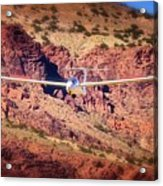 Duo Discus Over Red Rocks  Air Sailing Nevada Acrylic Print