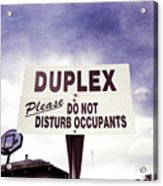 Duplex Yard Sign Stormy Sky Acrylic Print