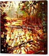 Durance Lake Acrylic Print