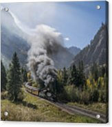 Durango And Silverton Train At Elk Park Wye Acrylic Print