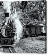 Durango Silverton Train Bandw Acrylic Print