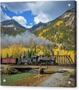 Durango-silverton Twin Bridges Acrylic Print