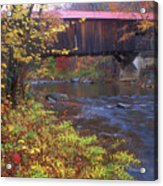Durgin Covered Bridge Sandwich Acrylic Print