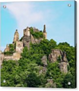 Durnstein Castle And Stone Outcroppings Acrylic Print
