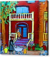 Durocher Street Montreal Acrylic Print