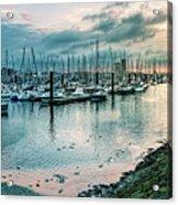 Dusk At Breskens Harbor Acrylic Print