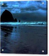 Dusk At Cannon Beach Acrylic Print
