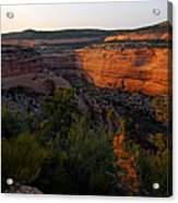 Dusk At Colorado National Monument Acrylic Print