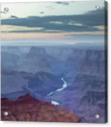 Dusk At Desert View Acrylic Print