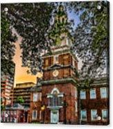 Dusk At Independence Hall Acrylic Print