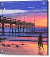 Dusk At The Pier Acrylic Print