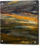Dusk At The River Acrylic Print