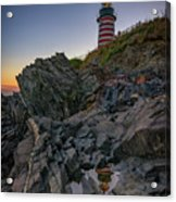 Dusk At West Quoddy Head Lighthouse Acrylic Print