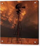 Dusk Down At The Mill Acrylic Print