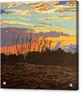 Dusk Fishing, Hutchinson Island Acrylic Print
