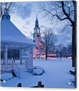 Dusk In Templeton Acrylic Print by Susan Cole Kelly