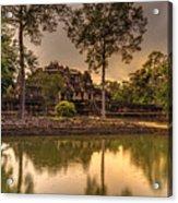 Dusk Light Preah Khan Temple Reflection Acrylic Print