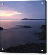 Dusk On Croatian Istria Acrylic Print