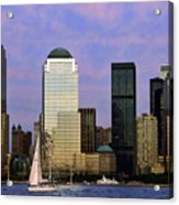Dusk On Lower Manhattan Acrylic Print