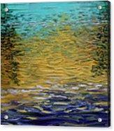 Dusk On Robert's Bayou Acrylic Print