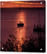 Dusk On The Bay Acrylic Print