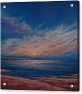 Dusk Over Distant Ocean City Acrylic Print