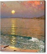 Dusk Over The Coast Acrylic Print