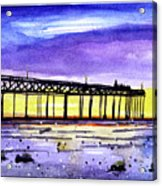 Dusk Pier Acrylic Print