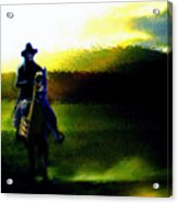 Dusk Rider Acrylic Print