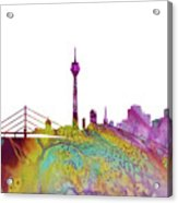 Dusseldorf Skyline 3 Acrylic Print